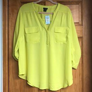 Torrid double pocket blouse